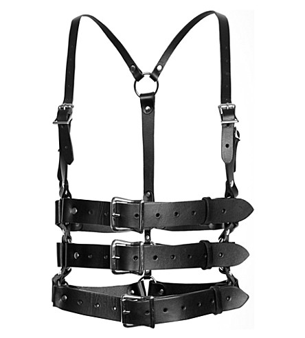 ZANA BAYNE Leather Francesca harness (Black