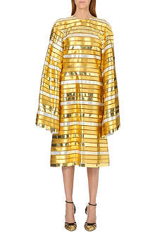 THOM BROWNE Striped metallic dress