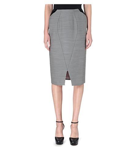 THOM BROWNE Seamed pencil skirt (Black/white