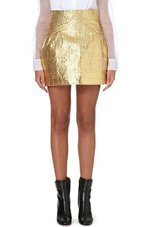 THOM BROWNE Textured metallic skirt