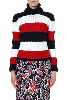 THOM BROWNE Striped turtleneck jumper