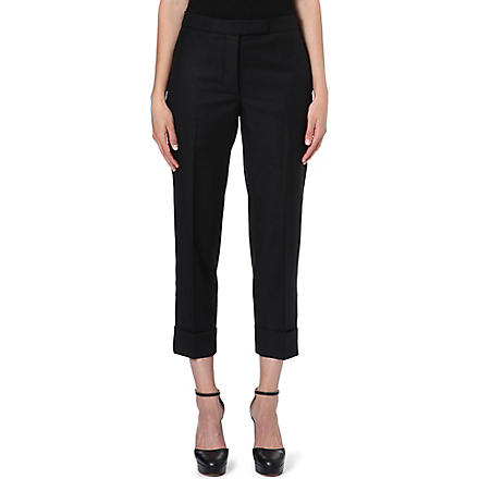 THOM BROWNE Cropped tailored trousers (Black