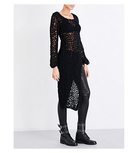 ISABEL BENENATO Asymmetric chunky-knit jumper (Black