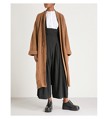 ISABEL BENENATO Longline yak and merino wool-blend coat (Camel