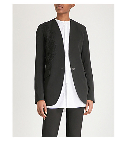 伊莎贝尔 BENENATO 绣羊毛夹克 (黑色