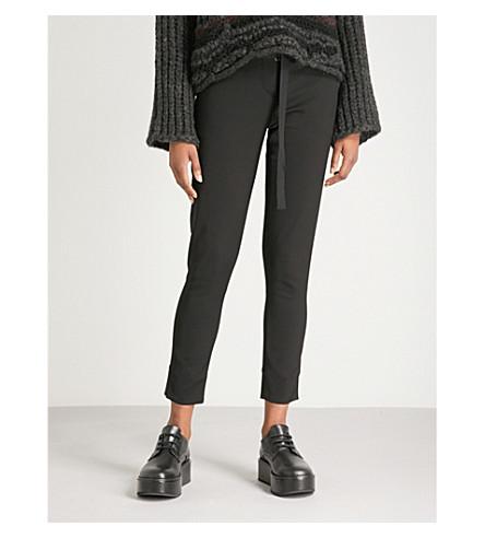 伊莎贝尔 BENENATO 苗条适合高上升的绉裤 (黑色