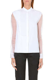 CHALAYAN Sheer-detail cotton shirt