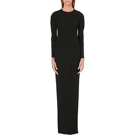 CHALAYAN Maxi stretch-crepe dress (Black