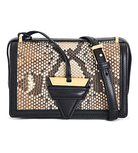 LOEWE Barcelona leather shoulder bag (Natural+black