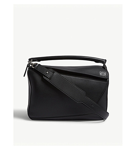 LOEWE Puzzle leather shoulder bag (Black