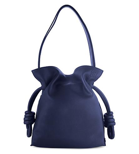 LOEWE Flamenco knot small leather bag (Marine