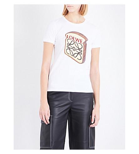 LOEWE Toast cotton-jersey T-shirt (White