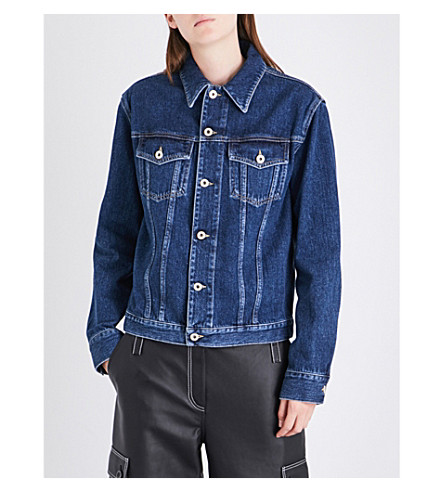 LOEWE Pocket-detail denim jacket (Blue+denim
