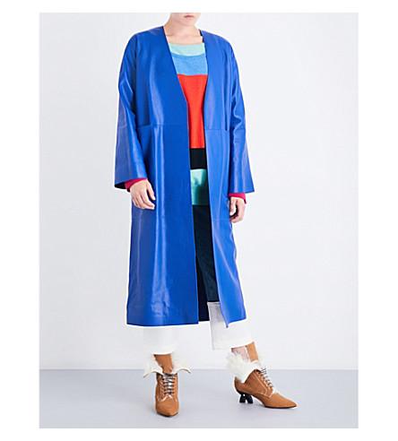 LOEWE Oversized leather coat (Blue
