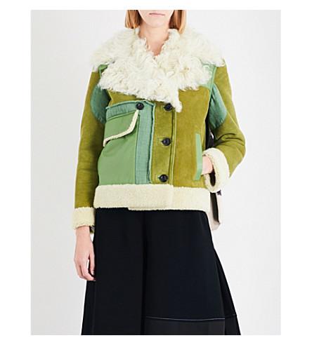 LOEWE Printed shearling jacket (Avocado