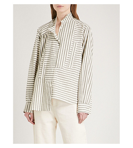 LOEWE Striped cotton shirt (Grey/white