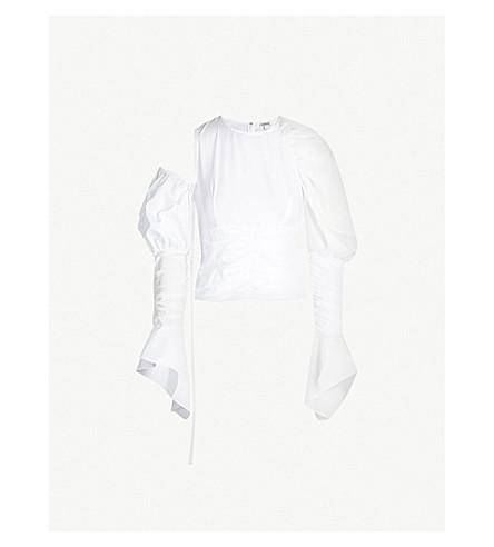 LOEWE Gathered cotton top (White
