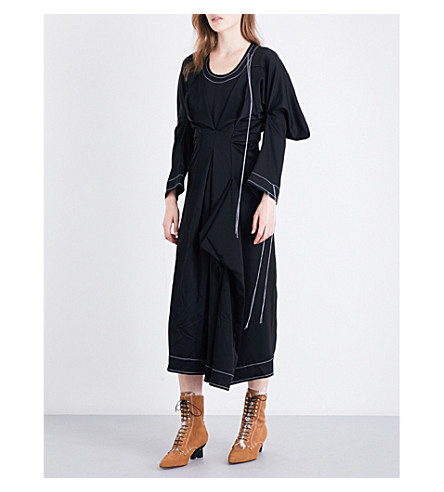 LOEWE Draped satin dress (Black