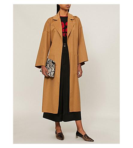 LOEWE 超大号羊毛和羊绒混纺大衣 (骆驼