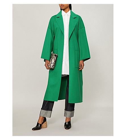 Sneakernews Sale Online Outlet Deals LOEWE Oversized wool and cashmere-blend coat Green 9jiyZ