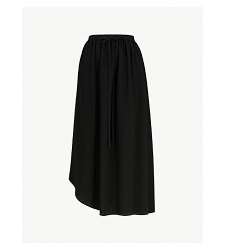 LOEWE Asymmetric-hem crepe skirt (Black