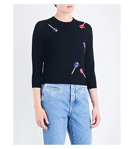 LOEWE Lollipop-intarsia knitted jumper (Black/mulit