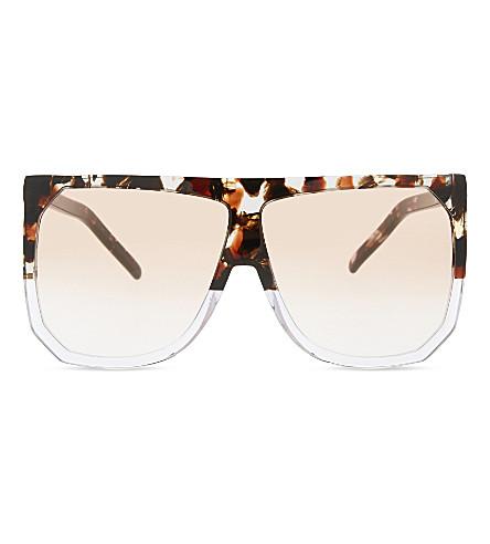 LOEWE SLW943 Filipa D-frame sunglasses (Havana/transparent