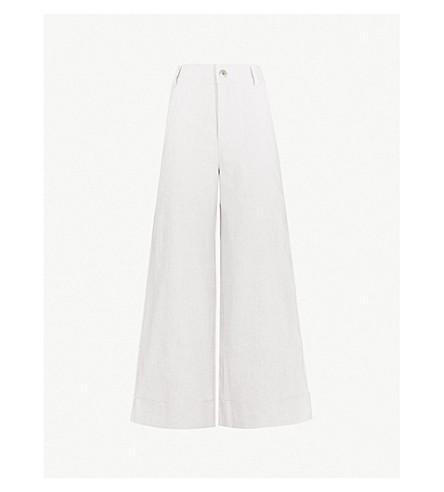 TOOGOOD The Carpenter linen and cotton-blend trousers (Milk