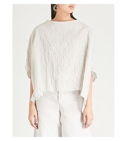 TOOGOOD The Cheesemonger striped cotton-blend shirt (Coal