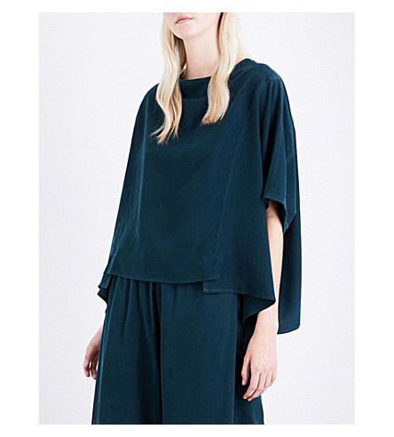 TOOGOOD The Cheesemonger silk top (Pine