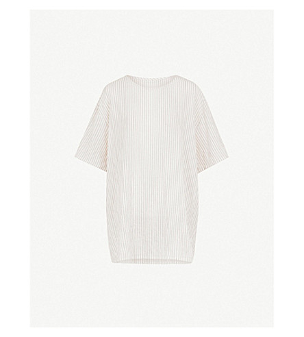 TOOGOOD The Painter striped cotton top (Coal