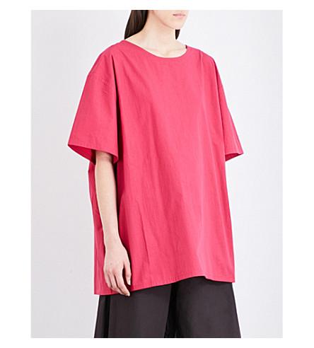 TOOGOOD The Painter sheer silk top (Rhubarb
