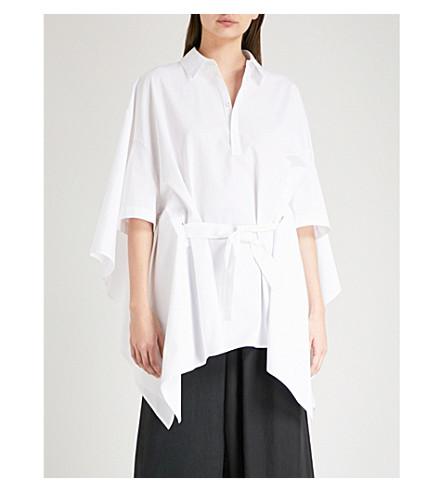 CHALAYAN Belted cotton shirt (White