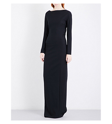 CHALAYAN Draped crepe gown (Black