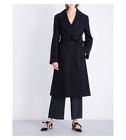 CHALAYAN Double-breasted wool-blend trench coat (Anthracite