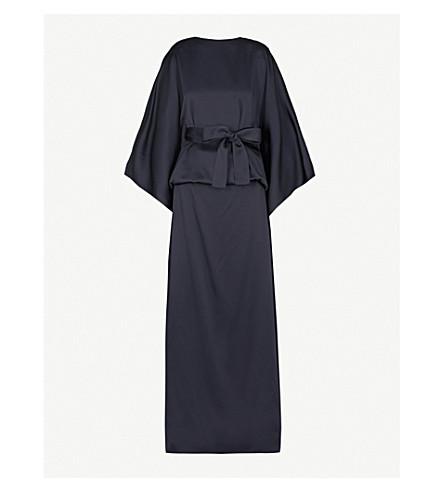 CHALAYAN Draped satin dress (Midnight