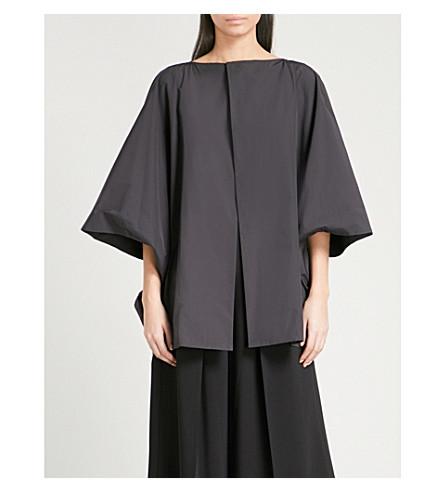 CHALAYAN Ruched-back shell jacket (Black