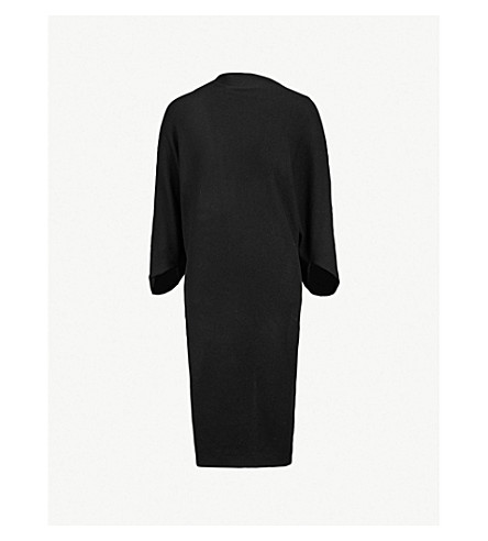 CHALAYAN Draped wool dress (Black