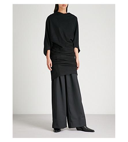 CHALAYAN Draped wool dress (Black