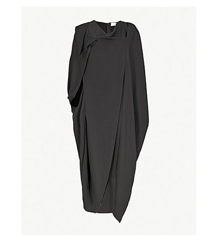 CHALAYAN Draped crepe midi dress (Black