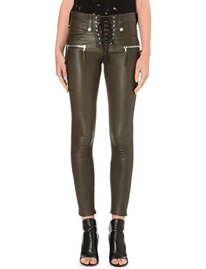 UNRAVEL Skinny leather trousers