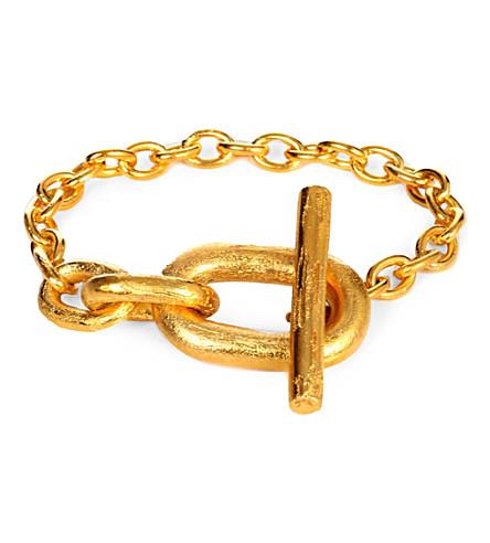 PARTS OF FOUR Acid-wash gold-plated toggle bracelet (Acid gold