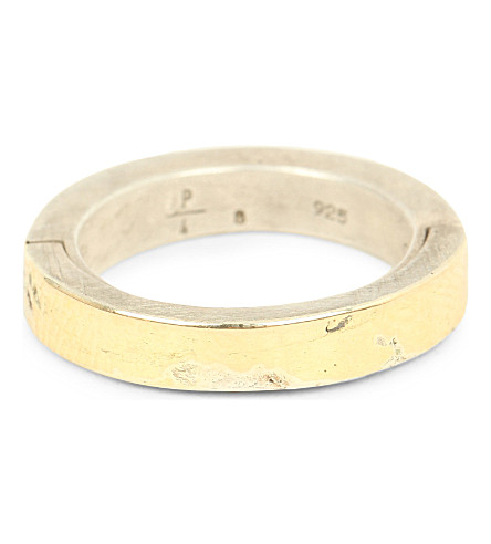 PARTS OF FOUR Sistema 18ct gold and sterling silver ring (Gold+and+dirty+silver