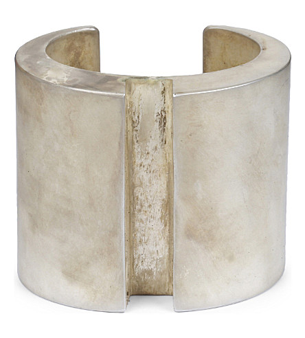 PARTS OF FOUR Crescent acid silver wide rift bracelet (As