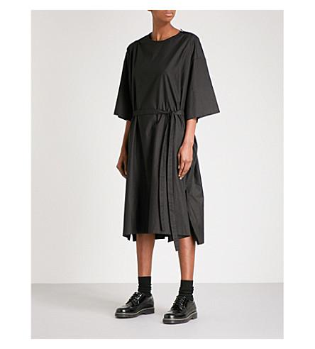 PHOEBE ENGLISH Belted cotton dress (Black