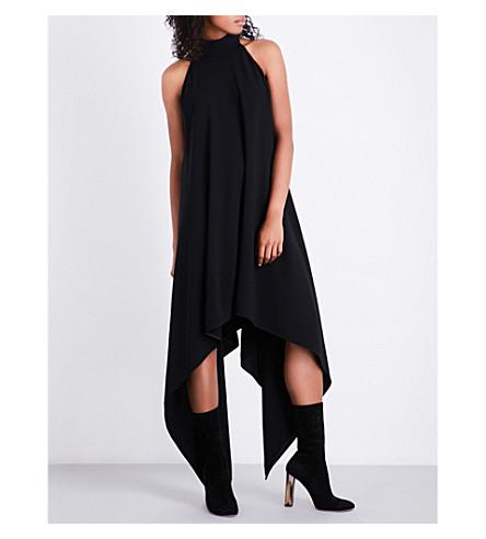 GARETH PUGH Asymmetric crepe dress (Black
