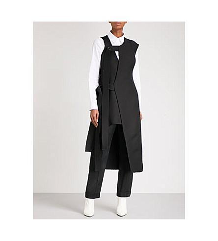 YULIA KONDRANINA Asymmetric wool midi dress