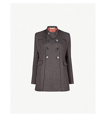 CHEREVICHKIOTVICHKI Striped linen jacket (Purple black stripe