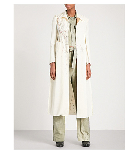 CHEREVICHKIOTVICHKI Inside Out Unlined single-breasted stretch-wool coat (Cream+splatter