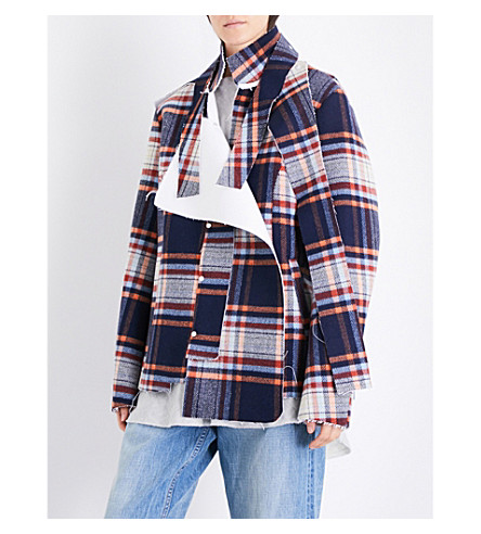 DANIEL GREGORY NATALE Oversized check wool jacket (Tartan